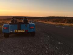 Sunset, a Seven and some great roads - bliss!