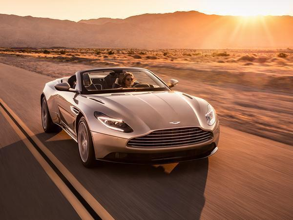 New 2018 Aston Martin DB11 Volante uncovered