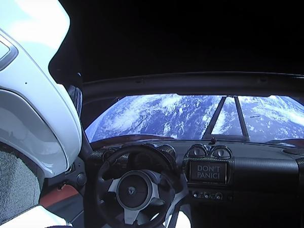 Driver Dummy 'Starman' in Space in a Six Figure Tesla Roadster