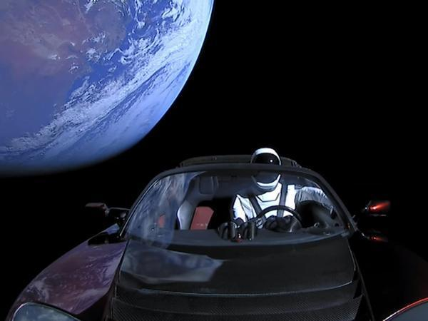 Driver Dummy 'Starman' in Space in a Six Figure Tesla Roadster