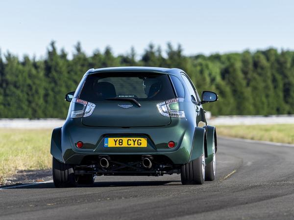 Aston Martin's stuffed a 430-hp V8 into a Cygnet city auto