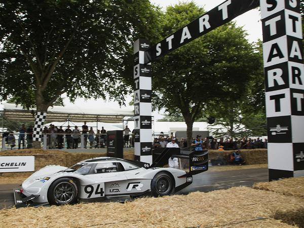 VW's electric Pikes Peak racer is now the champion at Goodwood, too