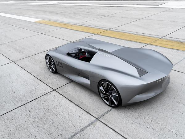 Infiniti Prototype 10 weaves retro speedster with electric soul