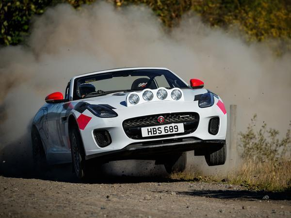 Jaguar has built two F-Type rally cars