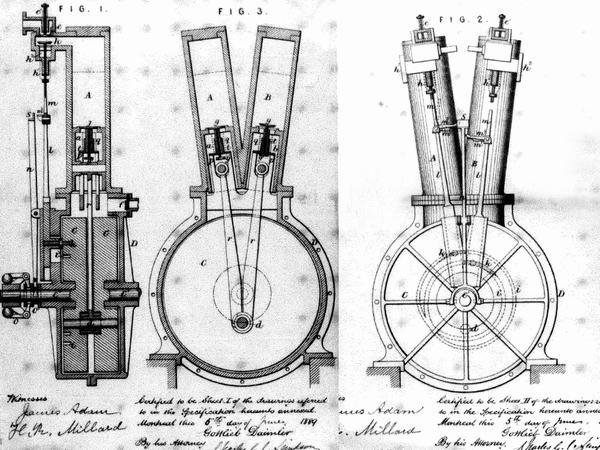 such a design would also result in a compact two-cylinder engine of the  same length of the original single-cylinder unit  it could easily be  fitted,