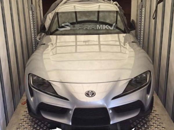 Production-spec fifth-gen Toyota Supra snapped