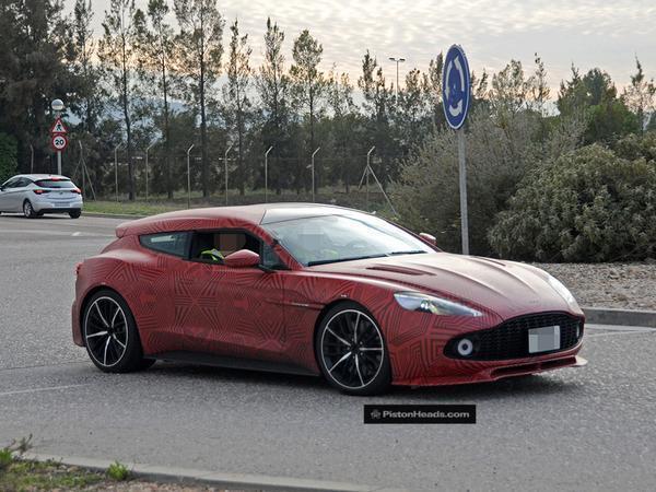 Aston Vanquish Zagato Shooting Brake Spied Pistonheads