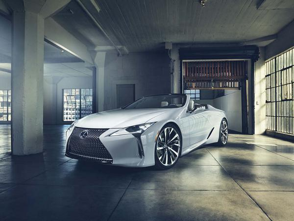 Lexus LC Convertible Concept drops roof for more drama