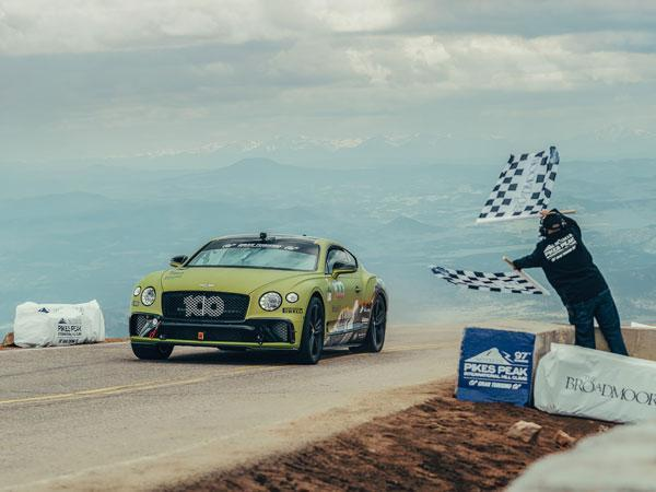 The Bentley Continental GT Sets New Production Car Pikes Peak Record