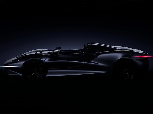 McLaren teased its new two-seat, open cockpit roadster