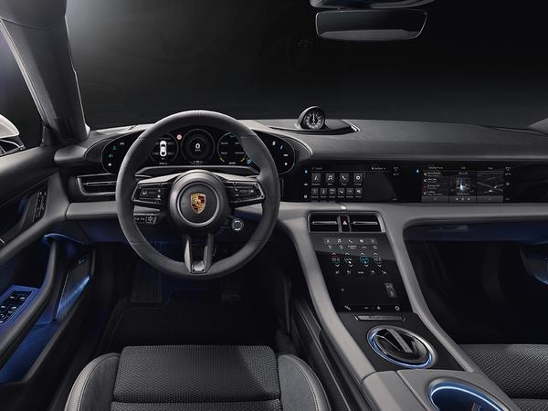 Porsche Taycan cabin shown - new passenger display
