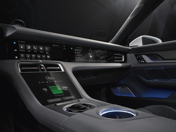 Porsche Taycan interior revealed, blends digital with traditional